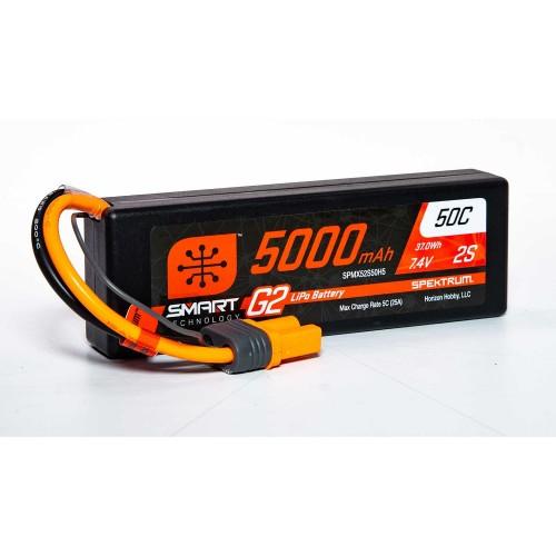 7.4V 5000mAh 2S 50C Smart...